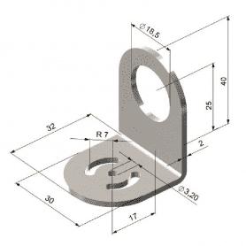 Uchwyt montażowy do obudowy masywnej D06 i pirometrów CS micro HS/ CT hot/ CT P3/ CT P7