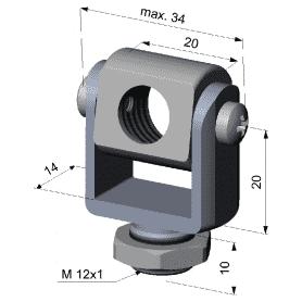 Widelec montażowy z gwintem zew. M12x1