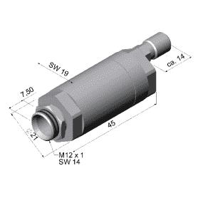 Przedmuch soczewki dla pirometrów z optyką ≥10:1 (nieodpowiedni dla głowic o dł. 32 mm)