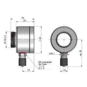 Przedmuch soczewki do instalacji na masywnej obudowie (D06) do pirometrów CS micro HS/ CT hot/ CT P3/ CT P7 / Ctratio