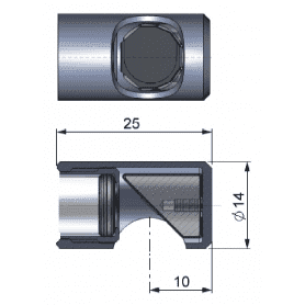 Lustro do pomiarów pod kątem 90° dla pirometrów z optyką ≥10:1