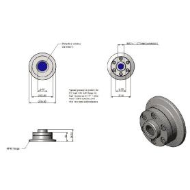 Flansza próżniowa KF40 z oknem germanowym (max 10^-7mbar) do pirometrów CT LT