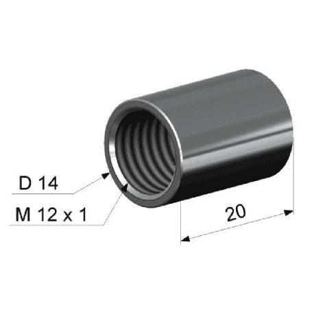 Adapter rurki z gwintem wewnętrznym M12x1