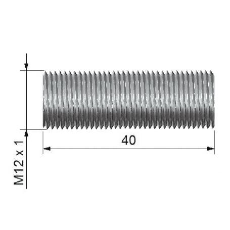Rurka dystansowa o dł. 40 mm z gwintem zew. M12x1
