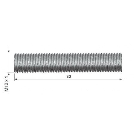 Rurka dystansowa o dł. 88 mm z gwintem zew. M12x1