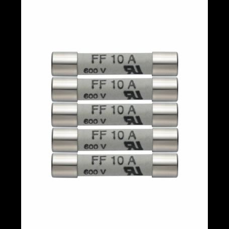 Zestaw 5 szt. zapasowych bezpieczników 10A 600V Testo 0590 0005