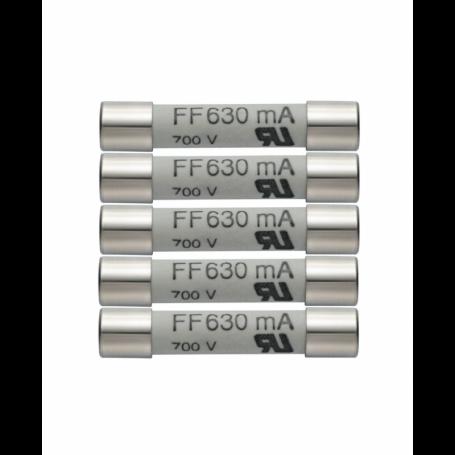 Zestaw 5 szt. zapasowych bezpieczników 63mA 600V Testo 0590 0007
