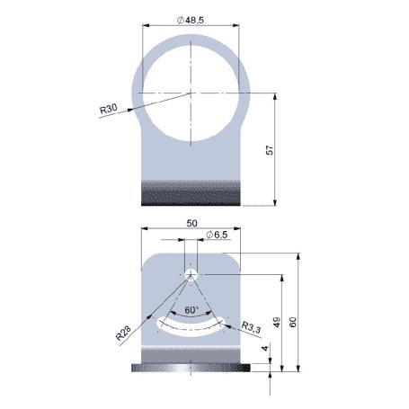 Uchwyt montażowy ze stali nierdzewnej