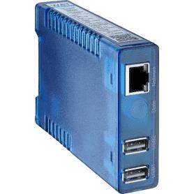 Konwerter 2x USB na Ethernet do podłączenia pirometru lub kamery za pośrednictwem sieci LAN