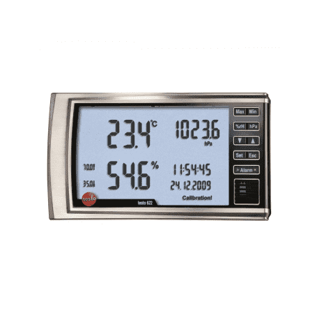 Testo 622 - Higrometr naścienny z funkcją pomiaru ciśnienia atmosferycznego