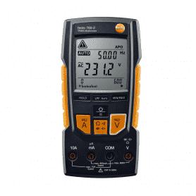 Testo 760-2 - Wielofunkcyjny multimetr cyfrowy AC DC z pomiarem mikroamperów - front