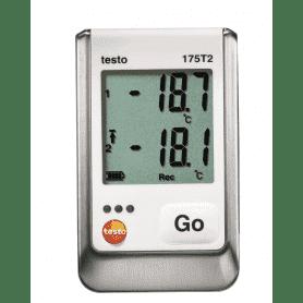 Testo 175-T2 - Rejestrator temperatury z czujnikiem wewnętrznym i sondą zewnętrzną