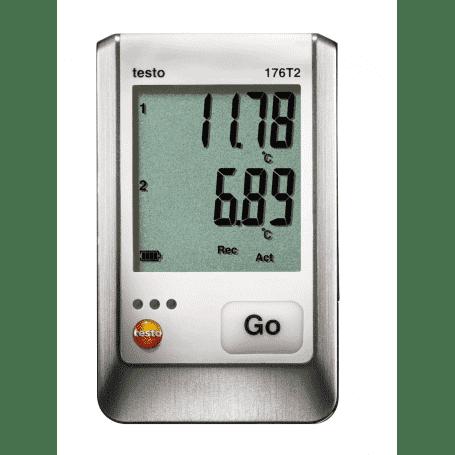 Testo 176-T2 - 2-kanałowy rejestrator temperatury Pt100 z 2 czujnikami zewnętrznymi