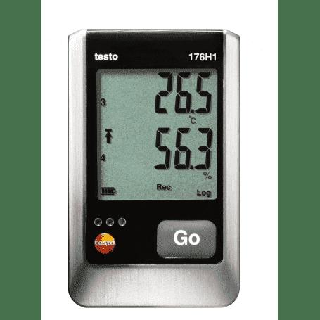 Testo 176-H1 - 4-kanałowy rejestrator temperatury i wilgotności z 2 gniazdami sond zewnętrznych