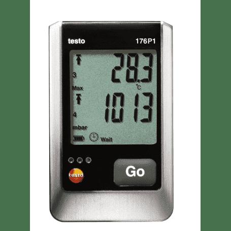 Testo 176-P1 - 5-kanałowy rejestrator ciśnienia, temperatury i wilgotności z 2 gniazdami czujników
