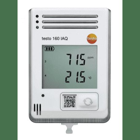 Testo 160 IAQ - Rejestrator WiFi z sensorami temperatury, wilgotności, CO2 i ciśnienia atm., z LCD