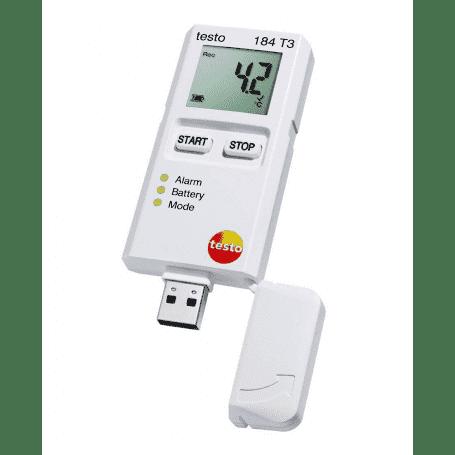 Testo 184 T3 - Rejestrator temperatury USB z wyświetlaczem dla transportu