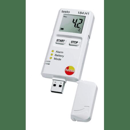 Testo 184 H1 - Rejestrator temperatury i wilgotności z wyświetlaczem dla transportu