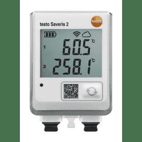 Testo Saveris 2-T3 - Rejestrator temperatury Wi-Fi z 2 gniazdami sond termoparowych