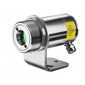 Pirometr stacjonarny Optris CSlaser G5HF - widok z uchwytem montażowym