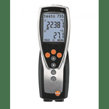 Testo 735-2 - Laboratoryjny termometr przemysłowy z pamięcią, rejestracją i wymiennymi sondami