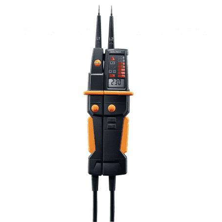 Testo 750-3 - Tester napięcia AC DC z wyświetlaczem ze wskaźnikiem rotacji i do testów RDC i RC