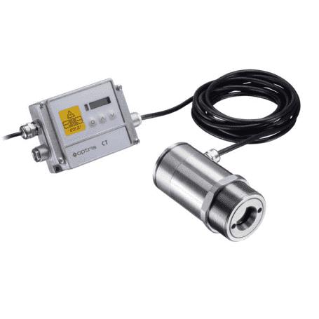 Pirometr stacjonarny do pomiaru temperatury płomienia CO2 Optris CTlaser F2