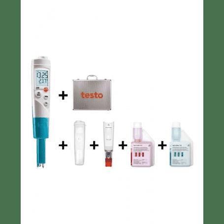 Zestaw Testo 206-pH1 - pHmetr z buforami i walizką