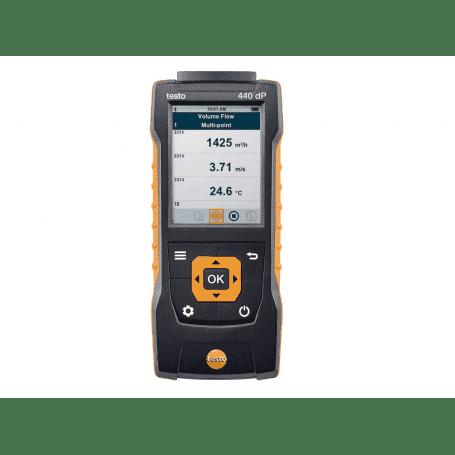 Testo 440 dP - Miernik prędkości przepływu i jakości powietrza z czujnikiem różnicy ciśnień