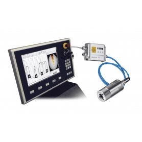 Pirometry stacjonarne Optris CTvideo 1M i 2M - widok z panelem operatorskim