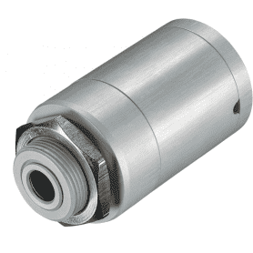 D06ACCTMHACF - obudowa masywna z anodowanego aluminium, ze zintegrowana soczewka CF do pirometrów LT