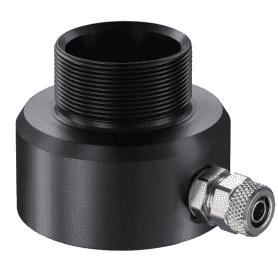ACCXAP - przedmuch soczewki z anodowanego aluminium do pirometrów CX