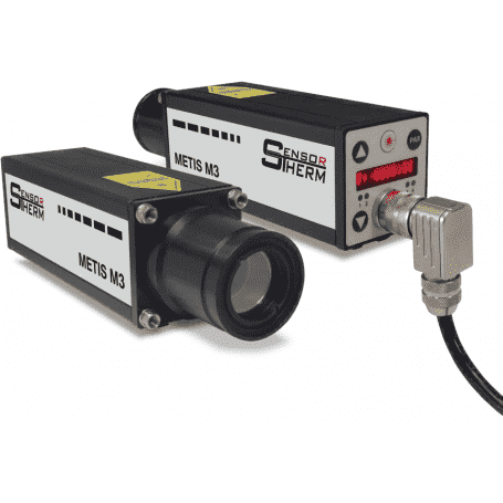 Pirometr stacjonarny Sensortherm Metis M3 - widok dwustronny