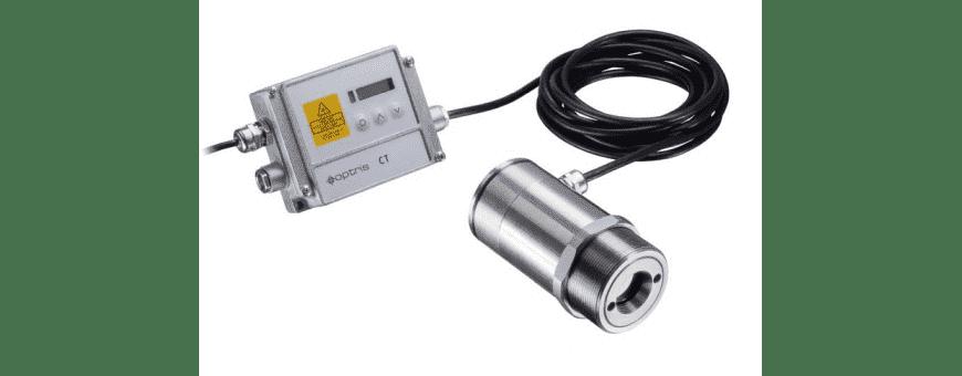 Profesjonalne, stacjonarne pirometry przemysłowe Optris CTlaser z klawiaturą i LCD