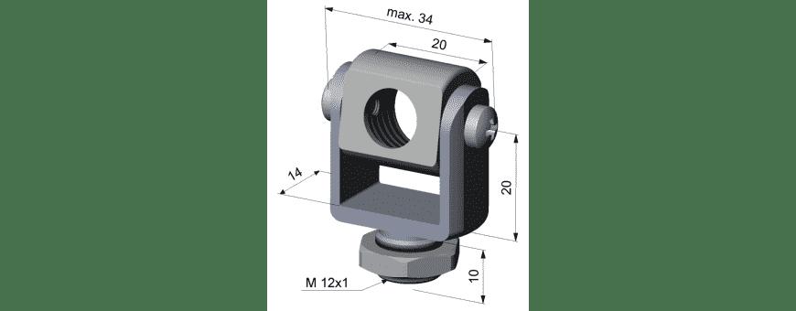 Mechaniczne akcesoria do pirometrów stacjonarnych Optris