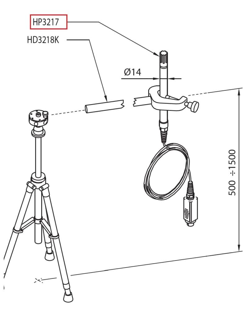 HP3217R: Zespolona sonda wilgotności względnej i temperatury powietrza
