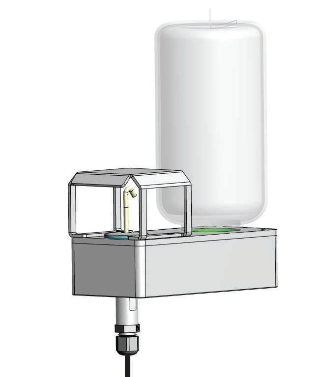 TP3204S: Sonda temperatury mokrego termometru z naturalną wentylacją