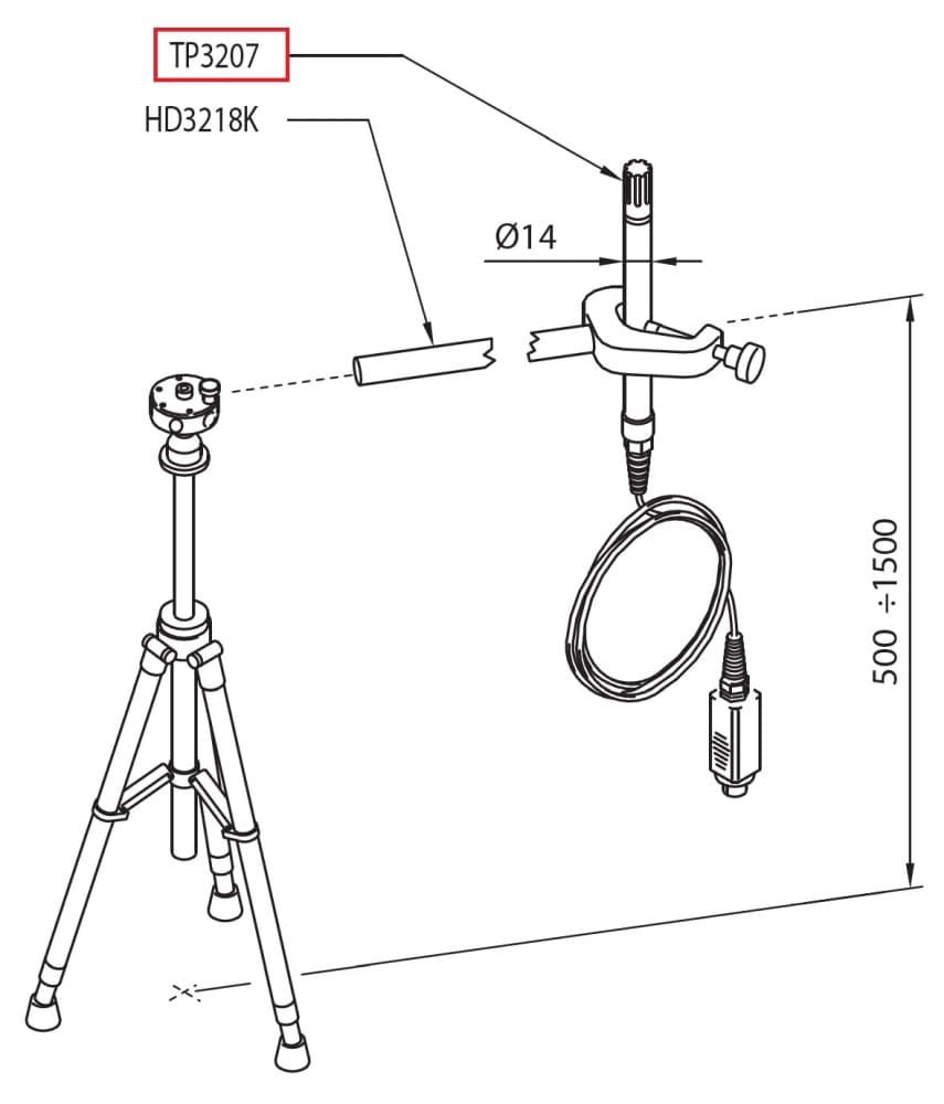 TP3207: Sonda temperatury ze zintegrowanym czujnikiem Pt100