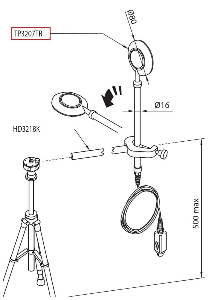 P3207TR: Sonda do pomiaru temperatury promieniowania