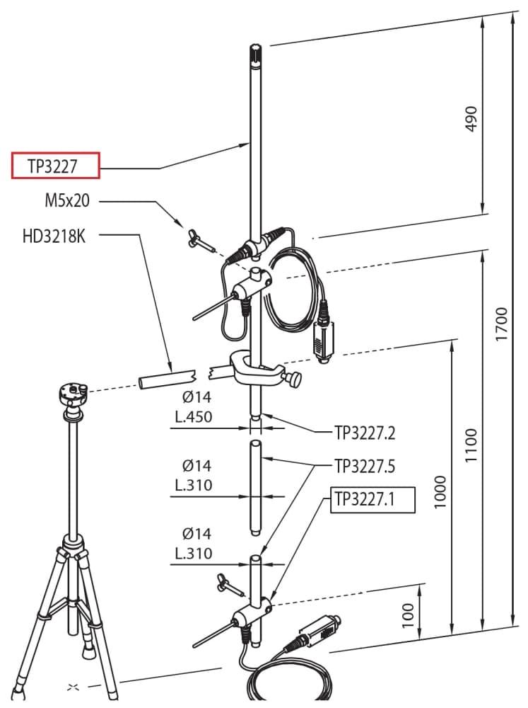 TP3227K: Sonda złożona z dwóch niezależnych czujników temperatury Pt100