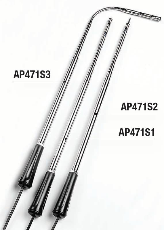 Sondy prędkości przepływu powietrza DeltaOHM AP471S1, AP471S2 i AP471S3