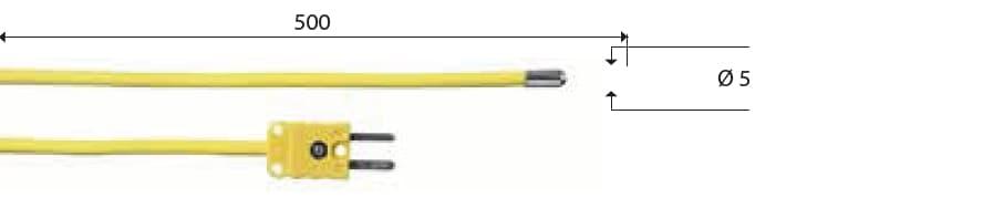 Kontaktowa termopara typu K DeltaOHM TP657/1