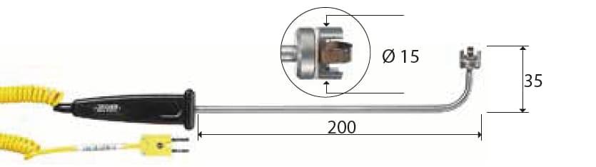 Kontaktowa termopara typu K DeltaOHM TP745/9