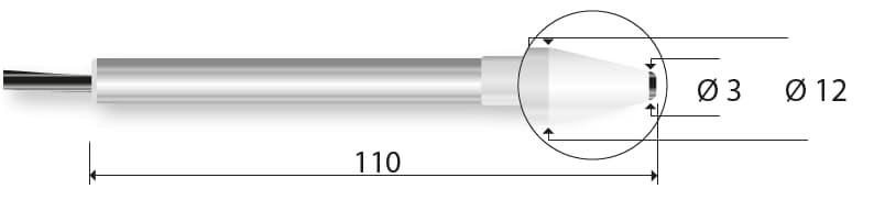 Kontaktowa termopara typu K DeltaOHM TP746