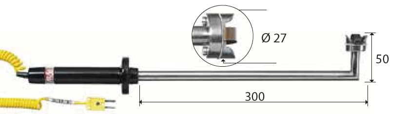 Kontaktowa termopara typu K DeltaOHM TP755/9