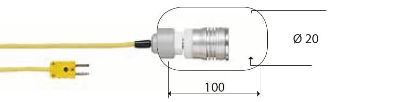 Kontaktowa termopara typu K DeltaOHM TP757