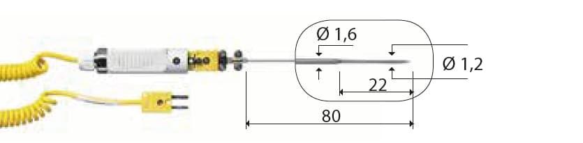 Penetracyjna termopara typu K DeltaOHM TP756