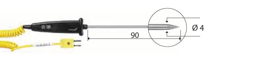 Penetracyjna termopara typu K DeltaOHM TP758.1