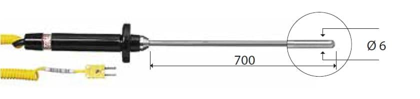 Zanurzeniowa termopara typu K DeltaOHM TP652
