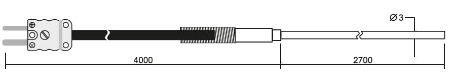 Zanurzeniowa termopara typu K DeltaOHM TP663